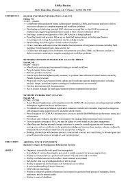 Systems Integration Analyst Resume Samples Velvet Jobs