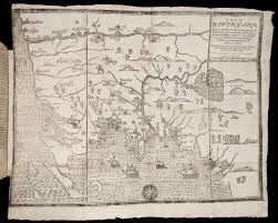 maps and the beginnings of colonial north america digital Map Of Voyage From England To Jamestown image of a map of new england, being the first that ever was here England to Jamestown VA Map