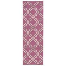 brisa pink 2 ft x 6 ft indoor outdoor reversible runner rug