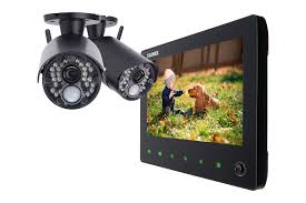 "Wireless Video Security System with 720p HD Cameras & 7"" Monitor ..."
