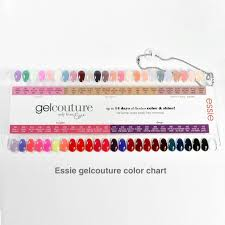Essie Gel Couture Nail Polish Color Sample Chart Palette Display