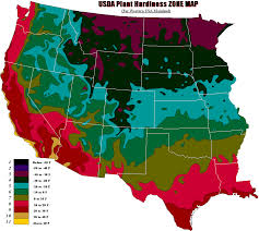Us Growing Zone Chart Usda Hardiness Zone Map