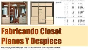fabricando closet sin puertas tipo vestier planos