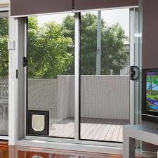 top notch sliding glass door pet door power pet electronic sliding glass door with pet door