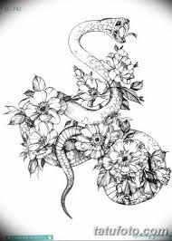 черно белый эскиз тату змея 11032019 071 Tattoo Sketch