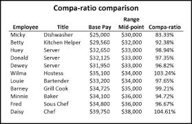 salary range calculator calculating compa ratio market index and range penetration compable
