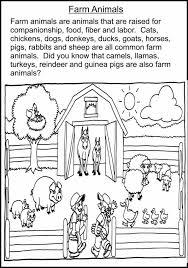 Kindergarten Farm Animal Facts Animals Worksheets For Kindergarten ...