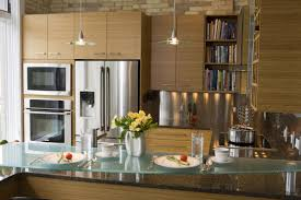 contemporary kitchen pendant lighting. Modern Small Kitchen Interior Using Glass Countertop Combined With Pendant Lighting Ideas For Inspiration Contemporary P
