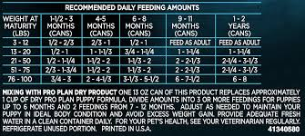 Pro Plan Puppy Large Breed Feeding Guide