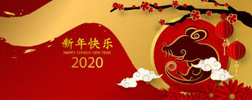 chinese new year card 2020 happy chinese new year 2020 banner card year of the rat gold