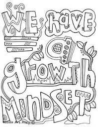 Growth Mindset Coloring Pages At Classroom Doodles Classroom Ideas