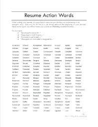 Words For A Resume Power Words For A Resume Blaisewashere Com