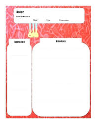 Recipe Template For Mac Recipe Template Recipe Book Template Pages Mac