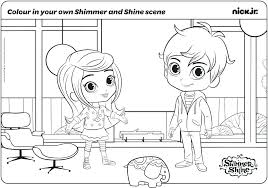 Nickelodeon Coloring Pages To Print Shimmer And Shine Coloring Pages