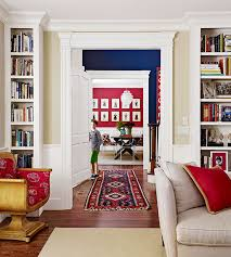 Painting adjoining rooms different colors Flow If You Paint Adjoining Rooms In Strongly Contrasting Colors Connect Them By Using Flooring Or Area Rugs That Include Both Colors Better Homes And Gardens Ways To Connect Rooms With Color