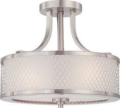 fusion 3 light semi flush mounts brushed nickel transitional flush mount