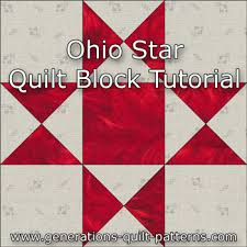 Ohio Star Quilt Block: Illustrated Step-by-Step Instructions in 5 ... & Ohio Star quilt block instructions Adamdwight.com