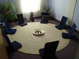 Round Rugs For Living Room 20 Soothing Meditation Room Ideas For Your Inner Zen Round Rugs