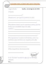 Como Hacer Una Carta Personal Maestro Jose Rafael Blog De Aula De Tercer Ciclo De Primaria