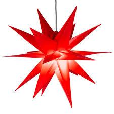 Weihnachtsstern 1 Led Warm Weiß Farbe Rot 3d Lichter Stern