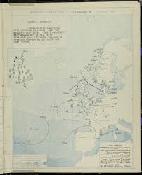 Synoptic Chart 7am 1st October 1914 Barometer Wind