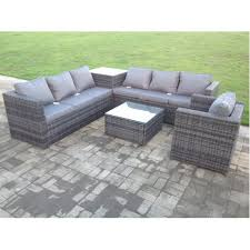 corner rattan sofa set table chair