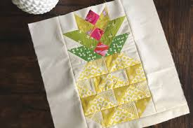 Pineapple Quilt Pattern Impressive Summer Block Party Candied Pineapple Create A Candied Pineapple