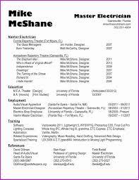 Electrical Foreman Resume Samples Elegant Electrician Resume Cover