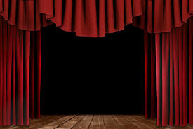 a red velvet curtain opening with spotlights in a theater inside velvet theater curtains renovation
