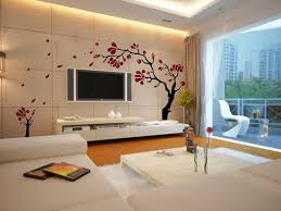 Wall Mount Tv For Living Room Modern Living Room Ideas With Floral Wallpaper And Elegant White