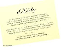 Wedding Information Card Wording Ideas Wedding Invitation