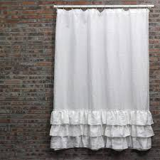 popular color of ruffle shower curtain
