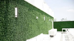 artificial living wall on parking garage project gallery