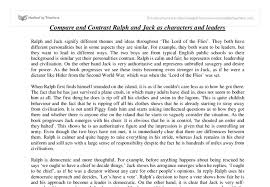 compare and contrast ralph and jack as leaders gcse english  document image preview