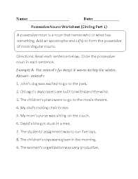 Ideas Collection Possessive Nouns Worksheets 3rd Grade For Your Resume  Sample