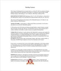 Roofing Contract Template 13 Roofing Contract Templates Word Google Docs Apple Pages