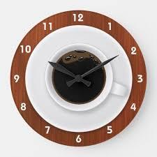 coffee time clocks zazzle com clock