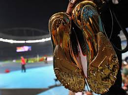 best photos from the rio olympic games com usain bolt s gold colored shoes moments after he won the 100 meter dash for
