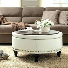 sophisticated pottery barn tufted ottoman leather coffee table