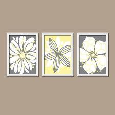 yellow and gray wall art yellow gray wall art bedroom canvas or prints bathroom artwork