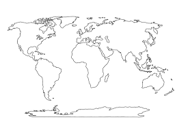 Coloring Pages 932 Blank World Map Printable Social Studies