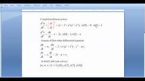shooting method code for the solution of coupled nar system in matlab lecture 7 b
