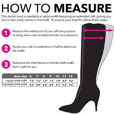 Calf Size Boots Chart How To Measure For Wide Calf Boots Wide Calf Boots