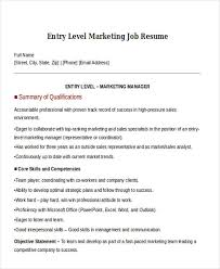 30 Simple Marketing Resume Templates Pdf Doc Free