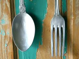 fork and spoon wall decor large