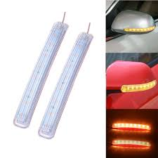 Led Car Signal Lights Led Car Turn Signal Light Auto Rearview Mirror Indicator Lamp Soft Flashing Fpc Universal Yellow 9 Smd Amber Light Source Emergency Lamps Online