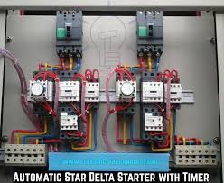 star delta 3 phase motor automatic starter with timer 3 phase delta wiring diagram coil generator at 3 Phase Delta Wiring Diagram