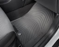 rubber floor mats. Simple Floor Hyundai Kona Rubber Floor Mats On