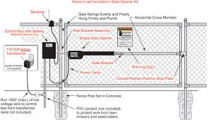 install an automatic swing gate opener gate diagram