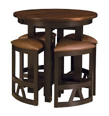 cool high bar table set with round and stools for pub design 15